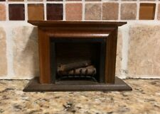 Shackman Miniature Fireplace with Logs and Grate Made in Japan