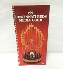 1991 Cincinnati Reds Media Guide Spiral Bound