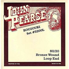 John Pearse 5220l 80/20 bronze Schlinge irisch Bouzouki Saiten