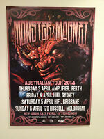 MONSTER MAGNET 2014 Australian Tour Poster A2 Last Patrol Mastermind Stoner *NEW