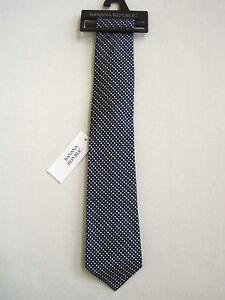 BANANA REPUBLIC Men's Blue Diamond Check Design 100% Silk Tie One Size NWT