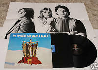 WINGS/BEATLES:LP GREATEST-ORIG.ITALY 1978+POSTER EX