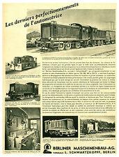 """Publicité Ancienne """" Berliner Maschinenbau-AG L'Automotrice 1941 ( P 24 )"""
