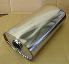 """9"""" x 5"""" Oval x 16"""" Long Universal stainless steel exhaust silencer"""