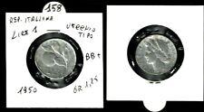 MONETA REPUBBLICA ITALIANA 1 LIRA  VECCHIO TIPO ANNO 1950 - BB+    N.158