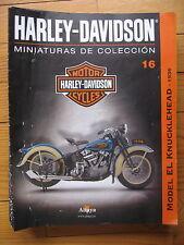 FASCICULE 16  MOTO COLECCION HARLEY DAVIDSONMODEL EL KNUCKLEHEAD 1936