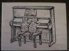 Mounted Rubber Stamps, Felines, Cat Stamps, Music, Humorous, Animals, Piano Cats