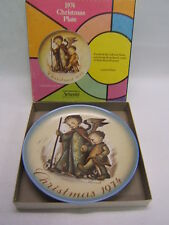 Schmid Brothers Hummel Christmas Collector Plate 1974 in box Ltd Ed Vgc