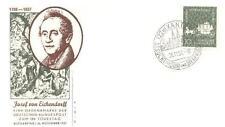 Germany 1957 FDC 280 J Freiherr Eichendorf
