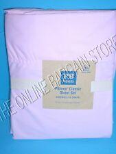 Pottery Barn Teen PBT Classic Sheets Set XL Twin Bed Dorm Pink Solid Organic