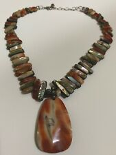 SILPADA N1046 Red California Abalone Shell Bead Necklace - Stunning! Reversible!