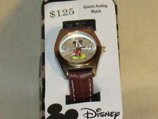 NIB Mickey Mouse Women's Watch Brown Band