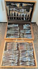 91 Piece Jean-Claude Rosewood & Bronze Complete Flatware & Servingware Set - NEW