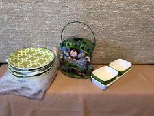 St. Patrick's Day Entertaining Set Home Interiors & Gifts wood Nib Gtc Bonus