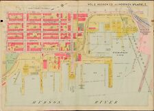 1909 G.M. HOPKINS, HOBOKEN, HUDSON COUNTY NEW JERSEY ELYSIAN PARK COPY ATLAS MAP