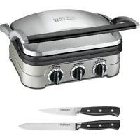 Cuisinart GR4N Griddler w/ 2-Pack Knife Set