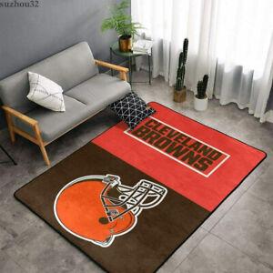Cleveland Browns Non-Slip Carpet Decor Living Room Bedroom Fluffy Floor Mat Gift