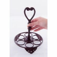 Rustic Finish 6 Egg Heart Motif Egg Rack Or Holder