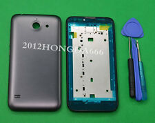Replacement Black Housing Front Frame +Battery Cover For Huawei Ascend Y550