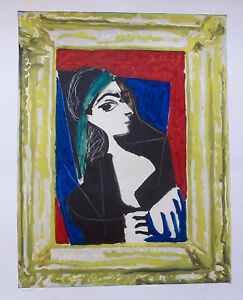 Pablo Picasso PORTRAIT DE JACQUELINE 1980 Limited Edition Lithograph Art