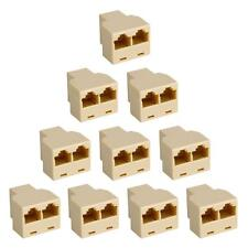 Lot 10Pcs New RJ45 CAT 5 6 LAN Ethernet Splitter Connector Adapter PC