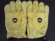 Leather Palm Anti-Vibration Gloves, XL, Gold, PR,  2HEW2 (DR)