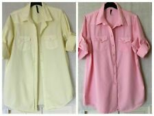 Ladies NEW LOOK Innocence shirt casual top  Holiday beach etc Yellow & Pink