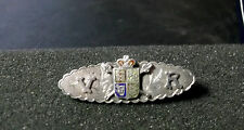 Queen Victoria VR coat of arms Silver/enamel  brooch