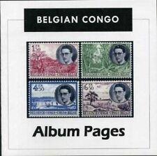 Belgian Congo CD ROM Stamp Album 1886-1960 Color Illustrated Album Pages