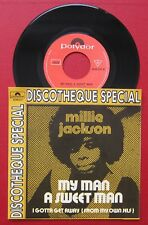 Northern Soul 45 MILLIE KACKSON - my man a sweet man - Belgian Picture sleeve PS