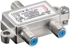 Aerial Frequency & Satellite LNB Signal Combiner / Splitter Diplexer & 3 F Plugs