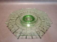 Vintage Green Depression Glass Cake Pedestal