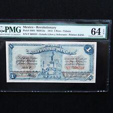 1915 Mexico - Revolutionary 1 Peso, Pick # S881  M2812a, PMG 64 EPQ Choice Unc.
