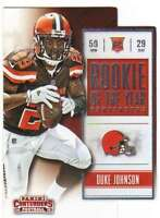 2015 Panini Contenders Rookie of the Year Contenders RC #18 Duke Johnson Browns