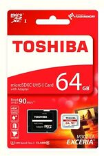 Speicher Toshiba 64 GB microSD XC Class 10 UHS 1 + SD Adapter für Digital Kamera