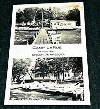 RPPC - Camp LaRue, Nest Lake, Spicer, Minnesota Vintage Postcard