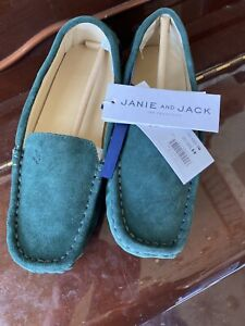 Janie and Jack- $69 Green  Suede Shoes - NWT Size 1k (1kid)
