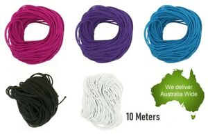 Polyester 1x Colour Elastic Thread Band Cord Stretch Rope Necklace DIY Craft 10M