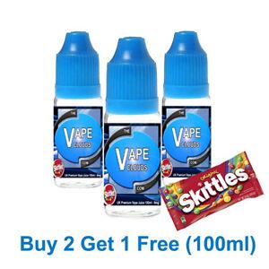 100ml E Liquid Vape Juice 70/30 VG/PG-0mg - 1.5mg - 3mg - 6mg Skittles Flavour