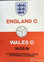 ENGLAND C V WALES C 2018/19  MINT
