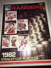 1982 Stanley Cup Playoffs New York Rangers Program