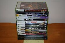 13 COMPLETE + 1 NEW SEALED Xbox + 360 Lot - Fallout 3 Saints Row 2 Deus Ex Fable