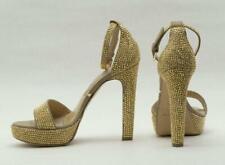 Gianni Renzi/Gml Gianmarco Lorenzi Silver Crystal Ankle Strap Sandal Size 42