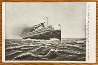 THE PALACE STEAMER EASTERN STATES OF THE DETROIT AND BUFFALO LINE POSTCARD E99