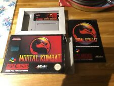 Snes mortal kombat Super Nintendo boxed with book