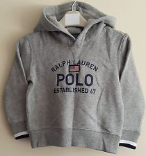 BNWT POLO RALPH LAUREN BOYS/KIDS FLEECE HOODIE/HODDY SIZE 2 YEARS (US 3/3T)