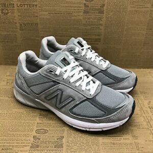 New Balance Womens 990 V5 W990GL5 Gray Running Shoes Lace Up Low Top Size 7.5 D
