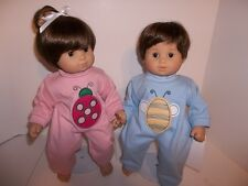 """Boy Bumble Bee Pajamas Doll Clothes made for15"""" American Girl Bitty or Twin New"""