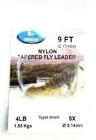 Material Nylon Trout Salmon Fly Fishing Leader Tippet Line Aqua Pro Copolymer