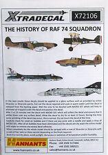Xtradecal 1/72 X72106 RAF No 74 Sqd 'Tiger Squadron' decal set